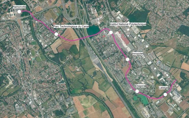 plan du prolongement de la ligne B - image Tisséo
