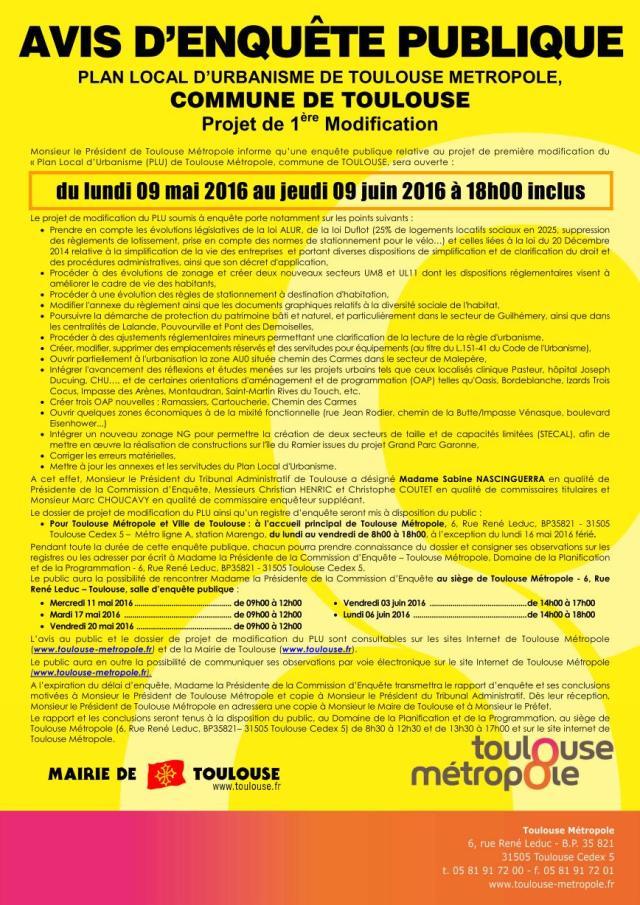 avis de modification du PLU mai-juin 2016